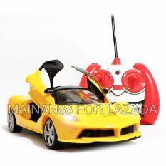 Super Racer RC Mobil LaFerari Skala 1/24 Pintu Buka Tutup dengan Remote - Kuning(Yellow)