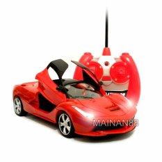 Super Racer RC Mobil LaFerari Skala 1/24 Pintu Buka Tutup dengan Remote - Merah