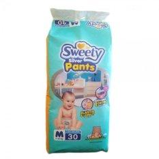 Sweety Popok Bayi Silver Pants - M 30