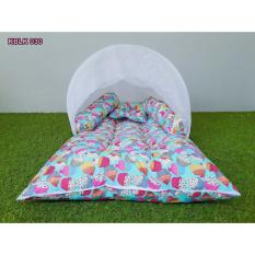 tempat tidur bayi karakter cupcake toska