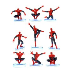 Tingbel Action Figure Spiderman 1 Set 9 Aksi