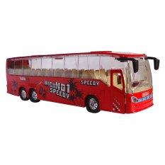 Toylogy Mainan Kendaraan Mobil-Mobilan Bis Mini Anak - Die Cast Metal New Bus MK-3 - (Red)