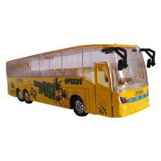 Toylogy Mainan Kendaraan Mobil-Mobilan Bis Mini Anak - Die Cast Metal New Bus MK-3 - ( Yellow )