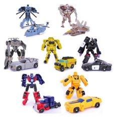 Transformasi 7 Buah/Banyak Robot Optimus Perdana Lebah Sideswipe Starscream Mainan-Mainan Tokoh Aksi Legenda Klasik