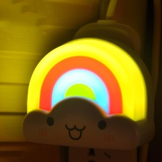 Vanker-Rainbow LED Night Lights Voice Control Lamp Nursery Light Wall Sticker (Playful/Voice controlled - intl