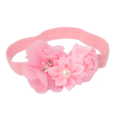 VR_Tech Pink Flower Baby Girls Headband Photography Props Hair Band - intl