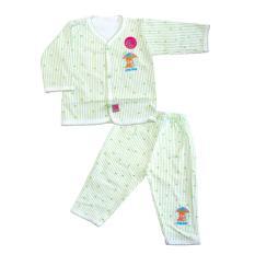 Womas Setelan Baju Bayi SWE017 Newborn Motif Garis - Hijau