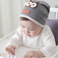 YBC hantu katun Unisex topi kupluk bayi baru lahir lembut topi abu-abu - Internasional