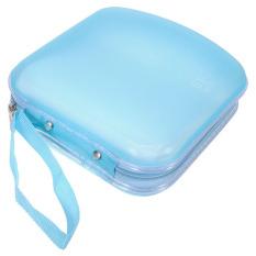 40 Disc Storage Holder Sleeve Case Hard Box Wallet Bag Zipper (Blue) (Intl)