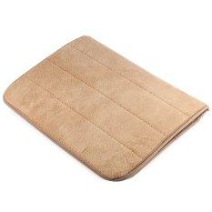 40 X 60cm Coral Velvet Bathroom Mat Non-slip Memory Foam Rug Soft Floor Carpet(yellow)