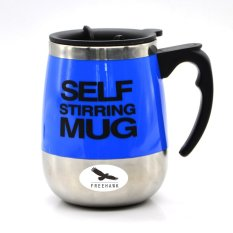 400ml Electric Self Stirring Mug Automatic Coffee Mixing Cup Automatic Electric Stirring Coffee Mug—Blue