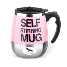 400ml Electric Self Stirring Mug Automatic Coffee Mixing Cup Automatic Electric Stirring Coffee Mug—Pink - INTL