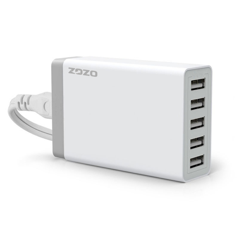 40W 5-Port USB Hub Home Desktop Charger Power Adapter (Intl)