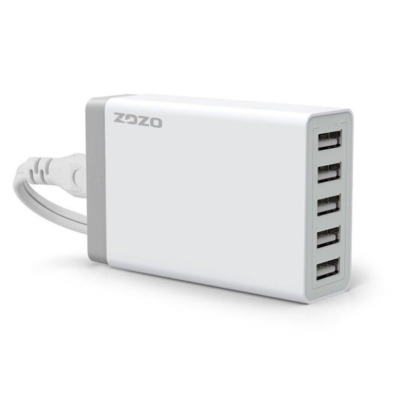 40W 5-Port USB Hub Home Desktop Charger Power Adapter white (Intl)