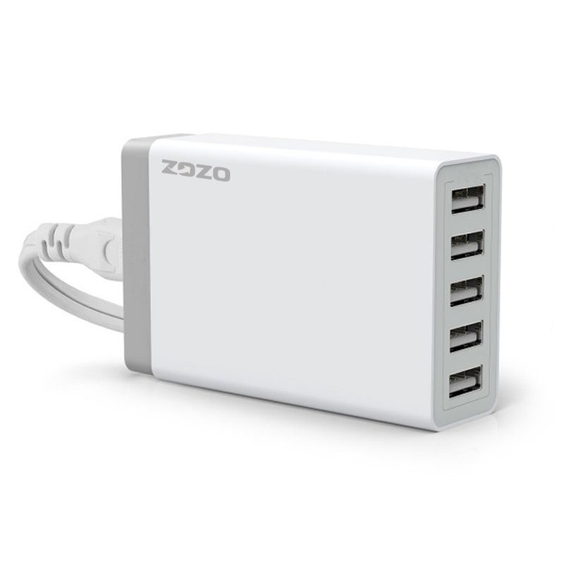 40W/8A 5 Port High Speed USB Desktop Charger (White) (Intl)