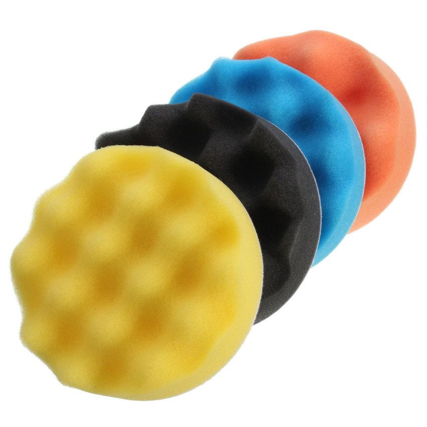 4Pcs 4 inch Buffing Polishing Sponge Pads Kit For Car Polisher Buffer (Intl)