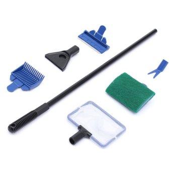 5 in1 aquarium tank cleaner supplies brush clean fish net gravel rake algae scraper fork sponge. Black Bedroom Furniture Sets. Home Design Ideas