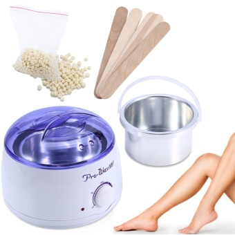 3 in 1 rambut Removal Set Depilatory Warmer mesin lilin Pot Heater dengan 5 Pcs spatula Cream Uni Eropa Plug