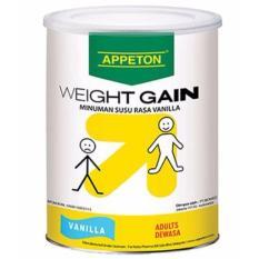 Appeton Weight Gain Adult vanilla - 900 gr, susu tinggi protein rasa vanilla / susu penambah berat badan / susu penggemuk badan / appeton- 1 pcs