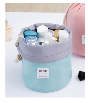 Best Travel Dresser Bucket Organizer/Tas Kosmetik Organizer/ Tempat Make Up - BIRU MUDA