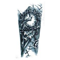 Big Black Clock Tato Design Temporary Tattoo Of Body Sticker