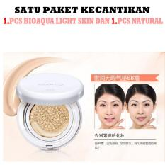Bioaqua Brightening Liquid BB Air Cushion Makeup 15g Natural + Light skin - Satu paket ( masing2x 1 pcs )