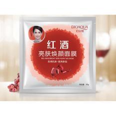 Bioaqua Masker Red Wine Bright Skin Huan Yan Sheet Mask 5pcs