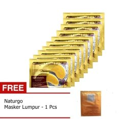 Collagen Crystal Eye Mask - Masker Mata - 10 Pcs + Gratis Naturgo 1 Pcs