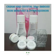 Cream Hn Crystal-Paket HN Crystal 20 Gr Original Embos Atas Bawah -Cream Pencerah Wajah -Sudah Bpom-Beli 4 Paket Gratis 1 Paket