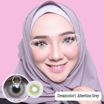Dreamcolor1 Albertine Grey Softlens Minus 4 50 Gratis Lens Case Source Dreamcolor1 Maki .