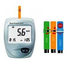 Easy Touch GCU 3 in 1 Alat Cek Tes Gula Darah Kolesterol Asam Urat Diabetes Colesterol Hiperuricemia dilengkapi DVD Penggunaan Akurat Ukur Kesehatan di Rumah