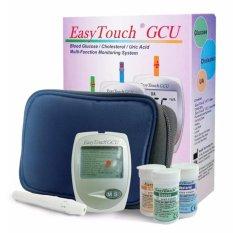 Easy Touch GCU Meter Alat Cek Tes Kolesterol Asam Urat Gula Darah 3in1 - Putih