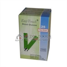 Easy Touch Test Strips Glukosa - Strip Gula isi 25 Buah - Hijau