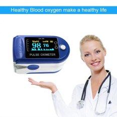 EsoGoal Finger Pulse Oximeter Finger Oxygen Meter with Pulse Rate Monitor LED Display, Blue - intl