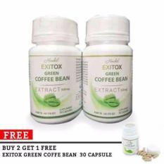 Exitox Green Coffee bean Extract 500Mg Pelangsing Cepat Alami
