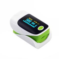 FingerTip Pulse Oximeter Blood Oxygen Saturation SPO2 PR Monitor Oxymeter Green - intl
