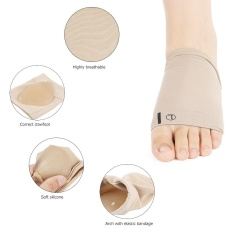 Flat Feet Orthotic Plantar Fasciitis Support Silicone Arch Support Cushion Tool - intl