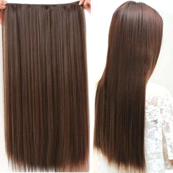 Gaya fashion rambut lurus panjang klip di ekstensi wig sopak 20 cmx 60 cm  Matt 7a07982d97