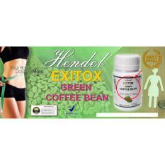 Herbal - Exitox Green Coffee bean Extract 500Mg Jaminan 100% Asli Pelangsing Cepat Alami
