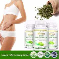Herbal - Herbal - Paket 3 Botol Exitox Green Coffee bean Extract 500Mg Jaminan 100% Asli Pelangsing Cepat Alami.
