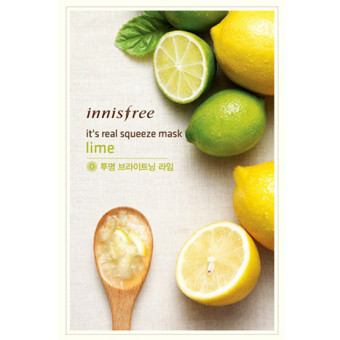 Innisfree It's real squeeze mask-lime 1sheet/20ml X 3pcs