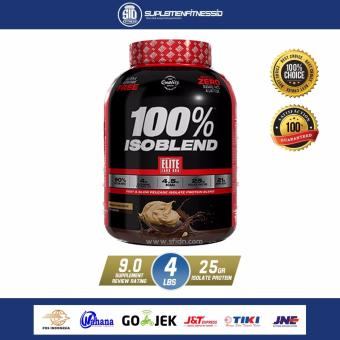 Isoblend Whey Protein Isolate Elite Labs Muscle Mass 4 lbs - Coklat