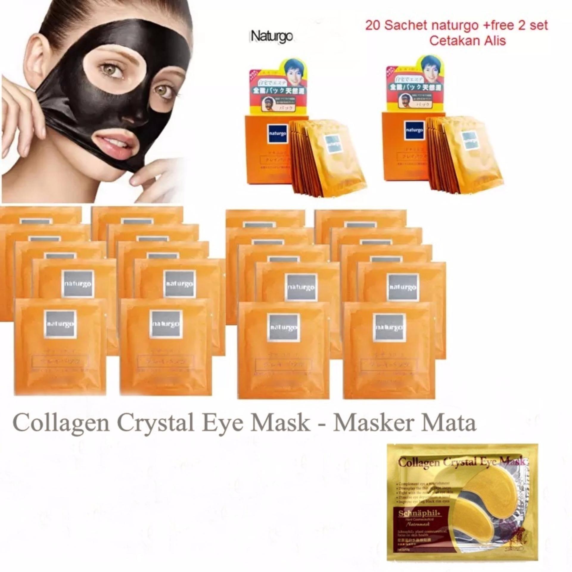 Jbs Alat Pemancung Hidung Perawatan Mata Collagen Crystal Eye Mask Masker Colagen Cystal Source Mascara Waterproof 20 Pcs Naturgo Lumpur