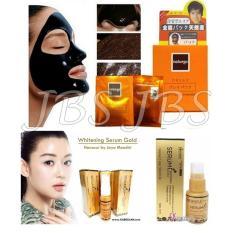 JBS Naturgo Masker Lumpur Isi 10 Sachet - whitening Serum Gold - Perawatan Kulit Wajah