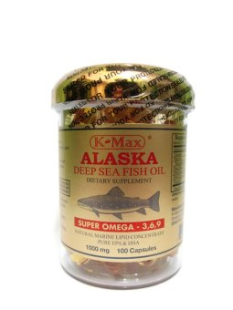 K-Max Alaska Deep Sea Fish Oil Omega 3,6,9 Gold Cap