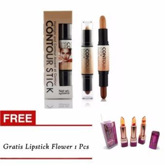 ... Kiss Beauty Contour Stick 2in1 Concealer Gratis Lipstick Flower 1 Pcs