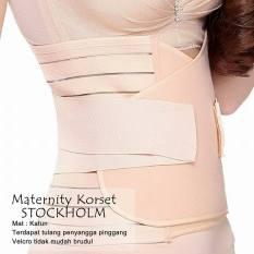 Korset Pelangsing Setelah Melahirkan / Maternity Korset Stockholm Shrink Belly - Cream