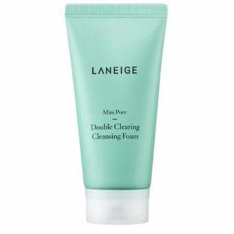 Laneige Mini Pore Deep Double Clearing Cleansing Facial Foam Sabun Pembersih Wajah Komedo - 150ml