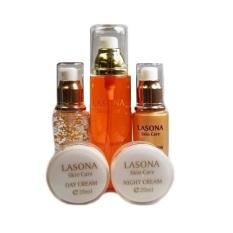 Lasona Skin Care Paket 5 in 1 Perawatan Wajah Cream Muka Original