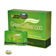 Leptin Green Coffee 1000 Original - Minuman Serbuk Kopi Penahan Nafsu Makan Penurun Berat Badan Pelangsing - 1Box 18 Sachet